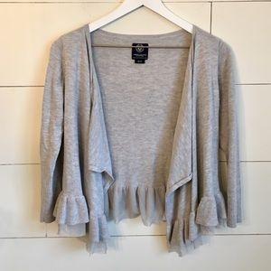 American Eagle Sweater cardigan flowy gray